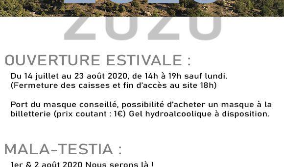 Ouverture estivale 2020