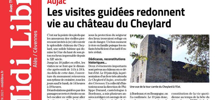 Le château est dans le journal